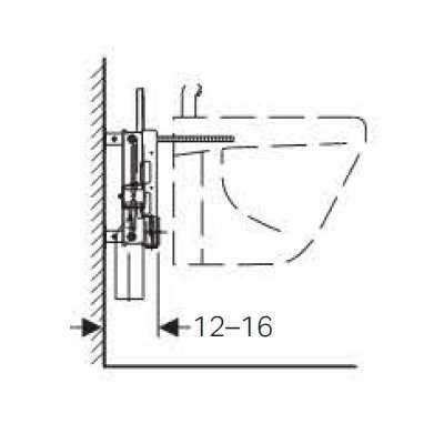 Wymiary techniczne podtynkowego stelaża bidetowego Geberit 457.530.00.1-image_Geberit_457.530.00.1_3