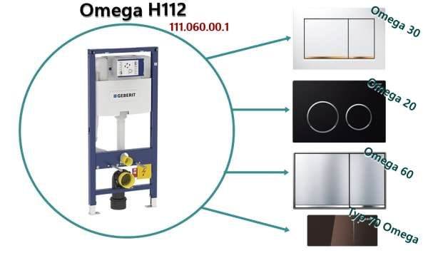 Przyciski pasujące do spłuczki podtynkowej wc Geberit Omega H112 111.060.00.1-image_Geberit_111.060.00.1_5