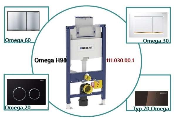 Możliwości dopasowania jednego z kilku rodzajów przycisków z pośród płytek Omega-image_Geberit_111.030.00.1_5