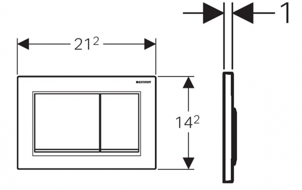 Rysunek techniczny przycisku spłukującego Geberit Omega 30 115.080.KH.1-image_Geberit_115.080.KH.1_3