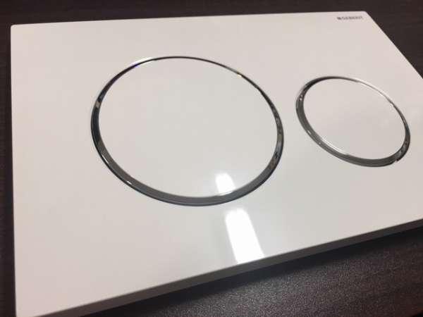 Rzeczywiste zdjęcie przycisku spłukującego Geberit Sigma20 115.882.kj.1 w wersji biały połysk z chromowanym akcentem.-image_Geberit_115.882.KJ.1_3