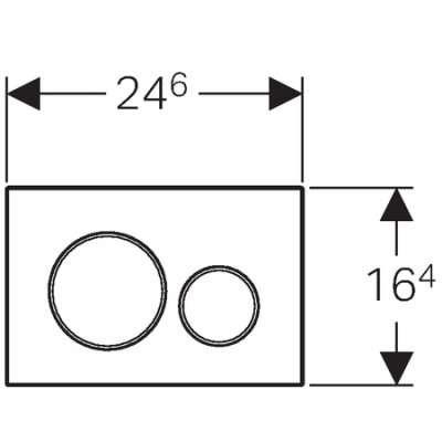 Wymiary techniczne metalowej płytki spłukującego Geberit Sigma20 115.882.sn.1-image_Geberit_115.882.SN.1_4