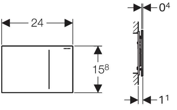 Rysunek techniczny przycisku spłukującego Geberit Sigma 70 do UP320 115.620.SQ.1-image_Geberit_115.620.SQ.1_3