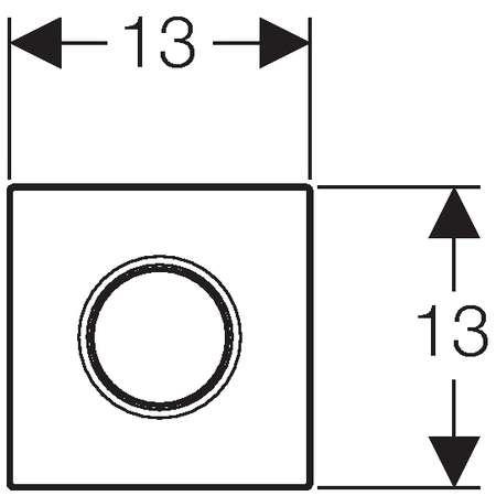 Rysunek techniczny przycisku spłukującego Geberit Sigma01 116.011.11.5 -image_Geberit_116.011.11.5_3