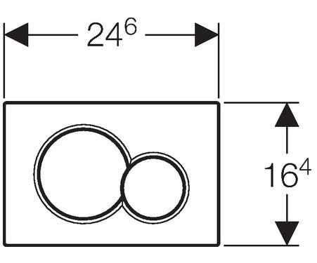 Wymiary techniczne przycisku spłukującego Geberit Sigma 01 115.770.11.5 do spłuczek podtynkowych Geberit Sigma12-image_Geberit_115.770.11.5_4