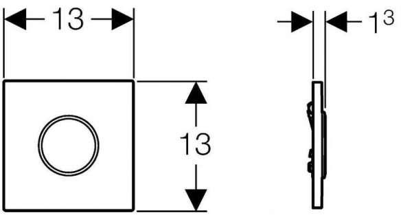 Rysunek techniczny przycisku spłukującego Geberit Sigma 116.015.KL.1-image_Geberit_116.015.KL.1_3