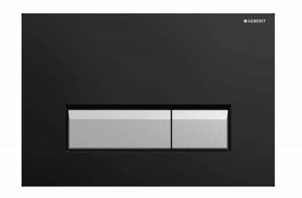 Czarny przycisk spłukujący Geberit Sigma40 115600KR1 do spłuczek podtynkowych Geberita z odciągiem bocznym.-image_Geberit_115.600.KR.1_4