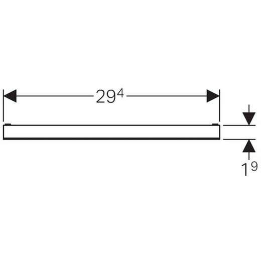 Wymiary techniczne zestawu wykończeniowego Geberit 154.338.00.1-image_Geberit_154.338.00.1_3