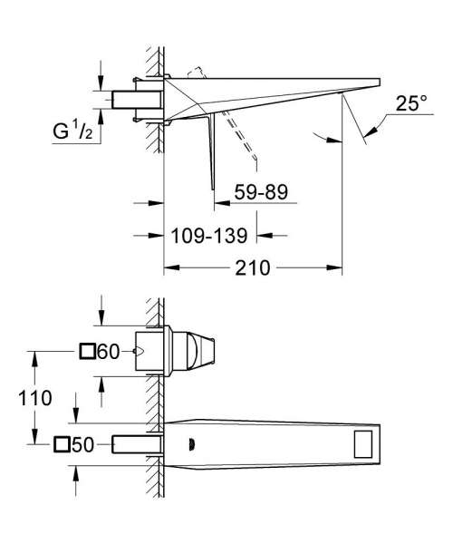 Wymiary techniczne baterii umywalkowej Grohe Allure Brilliant 19783000 -image_Grohe_19783000_4