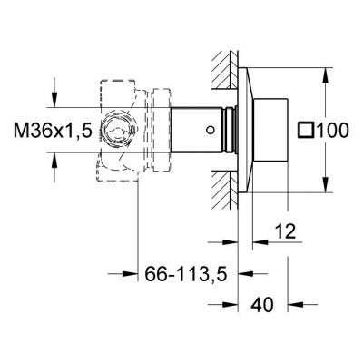 Wymiary techniczne przełącznika pięciodrożnego Grohe Allure Brilliant 19798000-image_Grohe_19798000_3