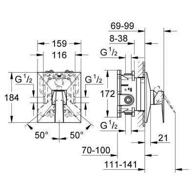 Wymiary techniczne baterii prysznicowej Grohe Allure Brilliant 19789000-image_Grohe_19789000_3