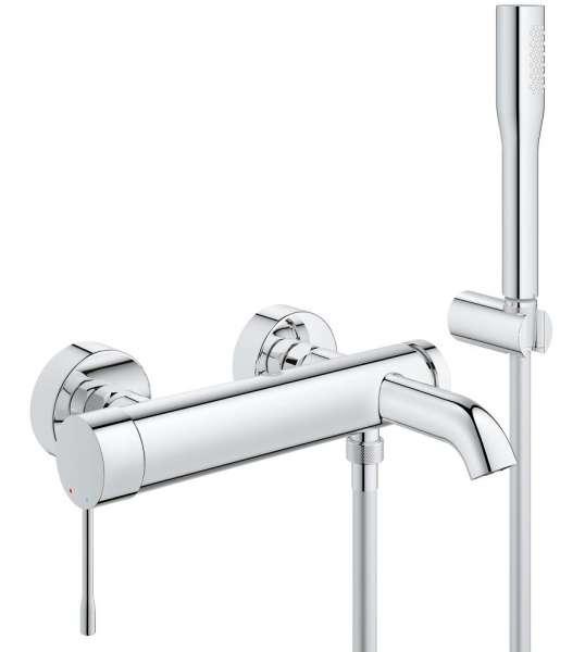 Jeden z hitów - bateria wannowo-prysznicowa w komplecie z punktowym zestawem prysznicowym Grohe Essence 33628001.-image_Grohe_33628001_3