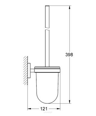 Rysunek techniczny szczotki wc Essentials 40374A01 -image_Grohe__1
