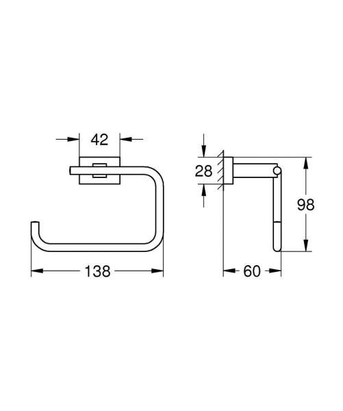 Wymiary techniczne akcesorium łazienkowego Grohe 40507 001-image_Grohe_40507001_4