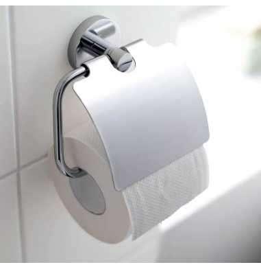 Aranżacja dodatku łazienkowego - Grohe Essentials 40367001 - uchwyt na sraj taśmę z klapką.-image_Grohe_40367001_3