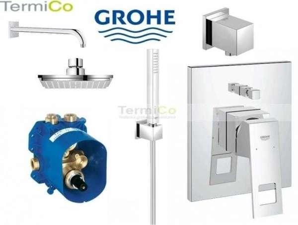 Podtynkowy set prysznicowy Grohe Eurocube 150 w wersji z deszczownicą Ścienną.-image_Grohe_117657_4