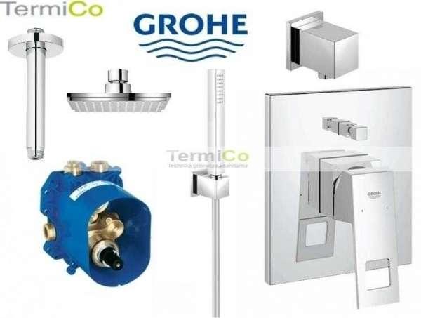 Podtynkowy zestaw prysznicowy z deszczownica w wersji sufitowej - Grohe Eurocube.-image_Grohe_GR/EUROCUBE/150S_4
