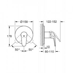 Dane techniczne baterii Grohe Eurostyle 24046003-image_Grohe_24046003_2