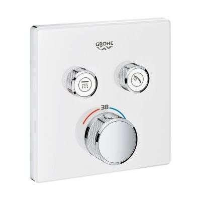 Podtynkowa bateria termostatyczna Grohe Grohtherm Smartcontrol White 29156ls0 do 2 odbiorników - kwadratowa rozeta.-image_Grohe_29156LS0_3