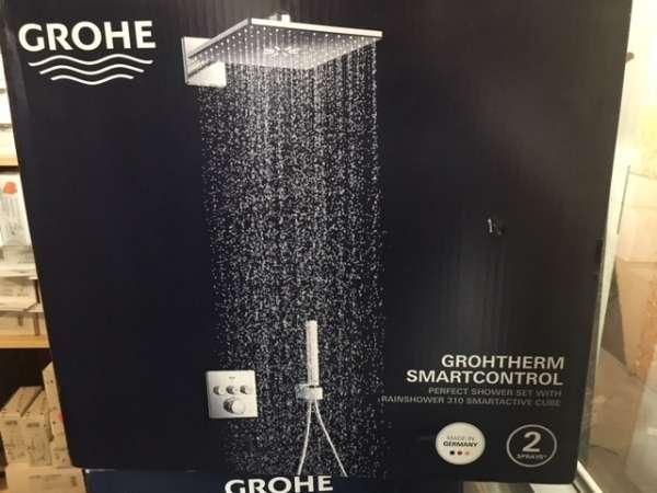 Pudełko zewnętrzne promocyjnego zestawu z termostatem na 3 odbiorniki Grohe Grohtherm Smartcontrol shower set 34706000.-image_Grohe_34706000_5