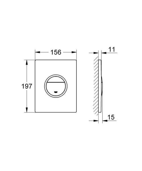Wymiary przycisku uruchamiającego do wc Grohe Nova Cosmopolitan Light 38809000 pion-image_Grohe_38809000_5