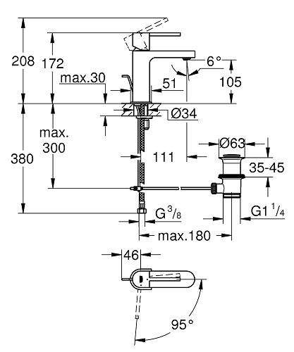 Dane techniczne baterii umywalkowej Grohe Plus 23870003-image_Grohe_23870003_1