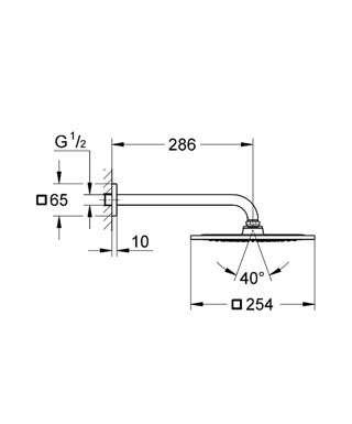 Wymiary techniczne zestawu prysznicowego Grohe Reunhower F-Series 26070000-image_Grohe_26070000_4