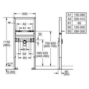 Dane techniczne stelaża Grohe Rapid SL 39052000-image_Grohe_39052000_2