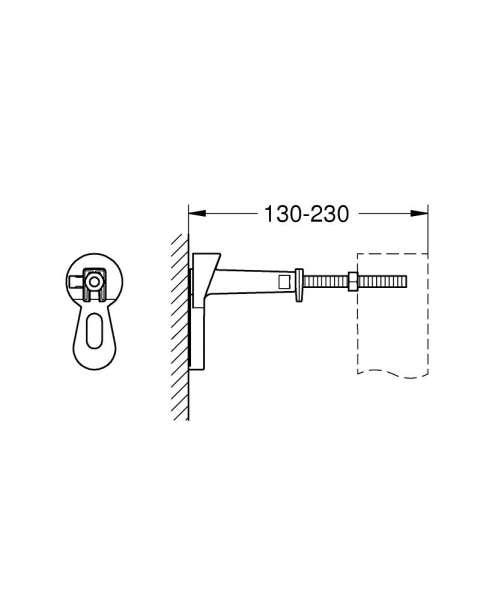 Rysunek techniczny wsporników montażowych Grohe Rapid 3855800M-image_Grohe_3855800M_3