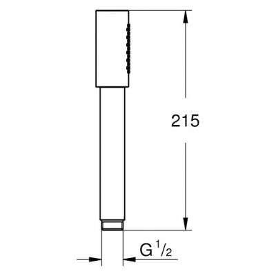 Wymiary techniczne słuchawki prysznicowej Grohe Sena 28034000.-image_Grohe_28034000_4