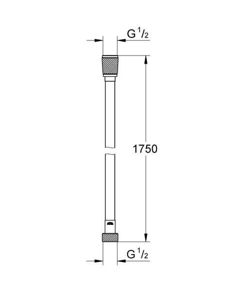 Rysunek techniczny węża prysznicowego Grohe 28388000-image_Grohe_28388000_4