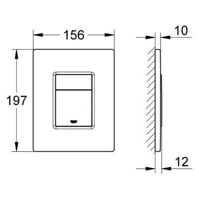 Wymiary przycisku spłukującego Grohe Skate Cosmopolitan 38732P00 w wersji chrom mat.-image_Grohe_38732P00_6