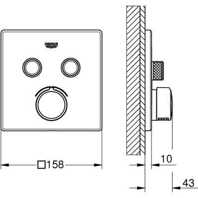 Wymiary techniczne podtynkowej baterii wannowej Grohe 29148000-image_Grohe_29148000_4