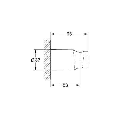 Wymiary techniczne uchwytu prysznicowego Grohe Tempesta 27594000 -image_Grohe_ 27594000_3