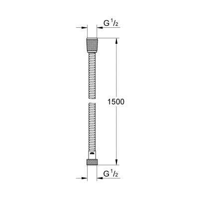 Wymiary techniczne węża prysznicowego Grohe 28143000-image_Grohe_28143000_4
