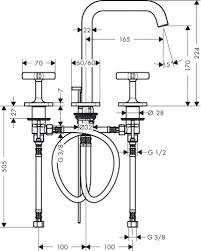 Rysunek techniczny baterii Axor Citterio E 36108000-image_Hansgrohe_36108000_3