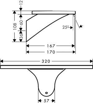 Wymiary techniczne wylewki wannowej  ściennej Hansgrohe Axor Massaud 18472000-image_Hansgrohe_18472000_3