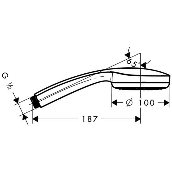 Wymiary techniczne zestawu Hansgrohe Croma 28583000-image_Hansgrohe_ 28583000_3