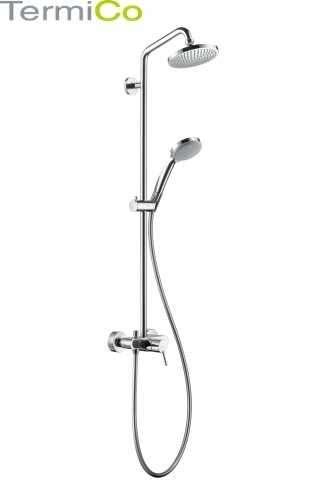 Klasyczna kolumna prysznicowa z mieszaczową baterią Hansgrohe 27154000-image_Hansgrohe_27154000_1