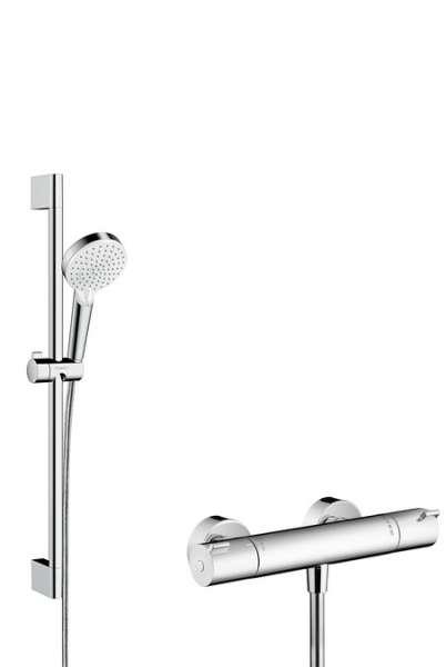 Jeden z najciekawszych zestawów termostatycznej baterii prysznicowej wraz z drążkiem i słuchawką - Hansgrohe 27812400-image_Hansgrohe_27812400_3
