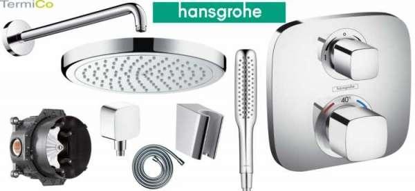 Podtynkowy termostatyczny zestaw prysznicowy Hansgrohe z deszczownicą 220mm.-image_Hansgrohe_HGR/ECOSTATE/220_3