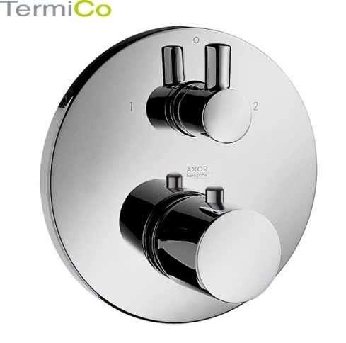 Podtynkowa bateria termostatyczna do obsługi 2 odbiorników Hansgrohe Ecostat S 15721000, element zewnętrzny do kompletowania z Iboxem.-image_Hansgrohe_15721000_4
