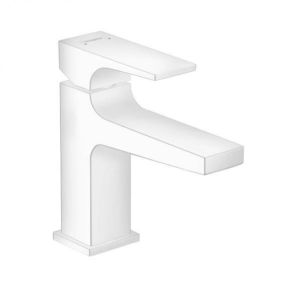 Niska armatura łazinkowa Hansgrohe Metropol w białym macie.-image_Hansgrohe_32500700_2