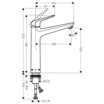 Wymiary baterii Novus 71124000-image_Hansgrohe_71124000_3