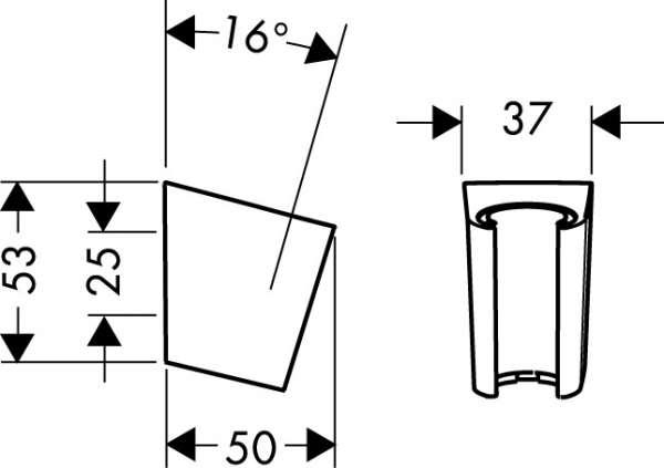 Wymiary uchwytu prysznicowego Hansgrohe Porter 28331000-image_Hansgrohe_28331000_4