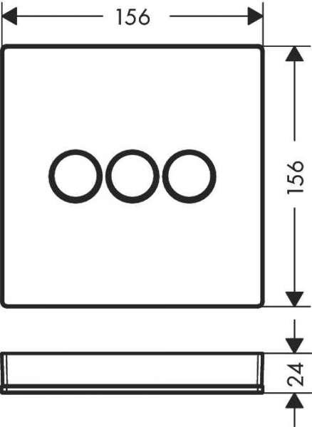Wymiary techniczne zaworu odcinającego Hansgrohe ShowerSelect 15736400-image_Hansgrohe_15736400_4