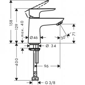 Rysunek techniczny baterii Hansgrohe Talis E 71706000-image_Hansgrohe_71706000_2