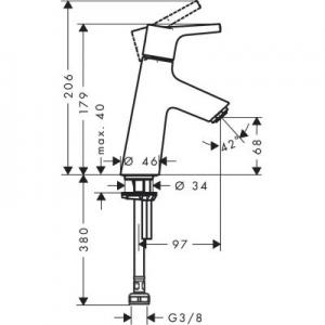 Dane techniczne Hansgrohe Talis S 72017000-image_Hansgrohe_72017000_2