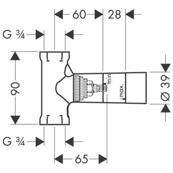 wymiary techniczne zaworu odcinającego 15970180-image_Hansgrohe_15970180_3