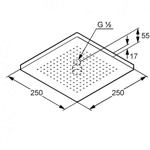 Wymiary techniczne głowicy natrysku Kludi A-QA 6654105-00-image_Kludi_6654105-00_3